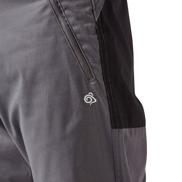 Craghoppers Mens Traverse Trousers Elephant/Black