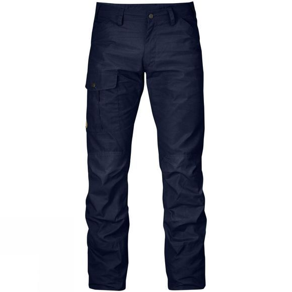 Fjallraven Mens Nils Trousers Raw Length Dark Navy