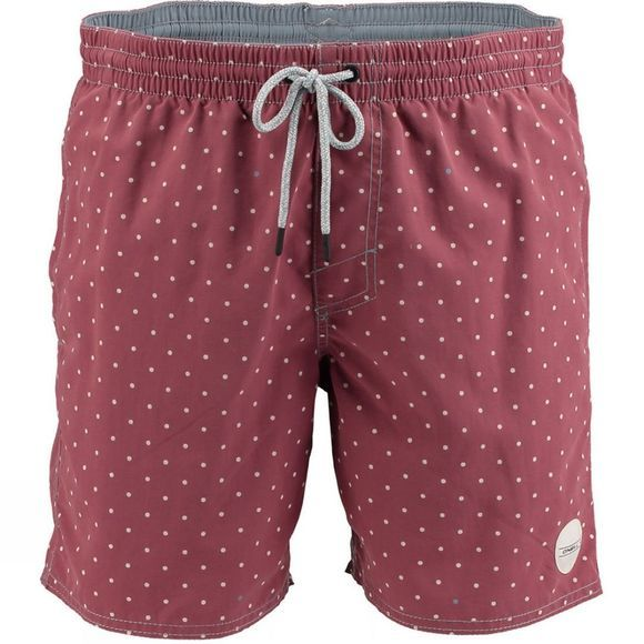 O'Neill Men's Chamber Shorts Red AOP W/White