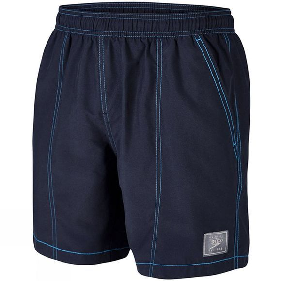 "Speedo Men's Check Trim Leisure 16"" Watershort Speedo Navy"
