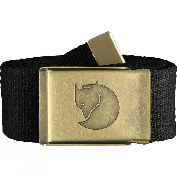 Fjallraven Canvas Brass Belt Black