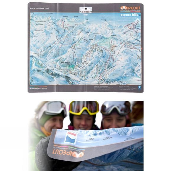 Wipeout Espace Killy Piste Map Lens Cloth
