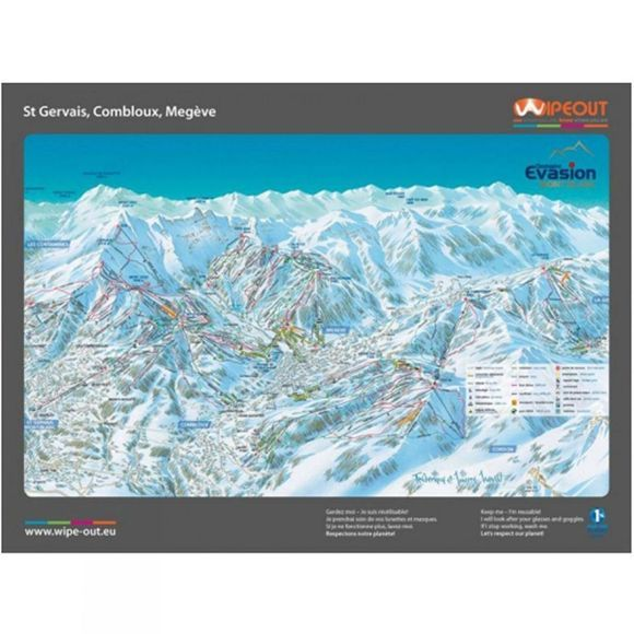 Wipeout Wipeout Evasion Domain Piste Map Lens Cloth EVASION