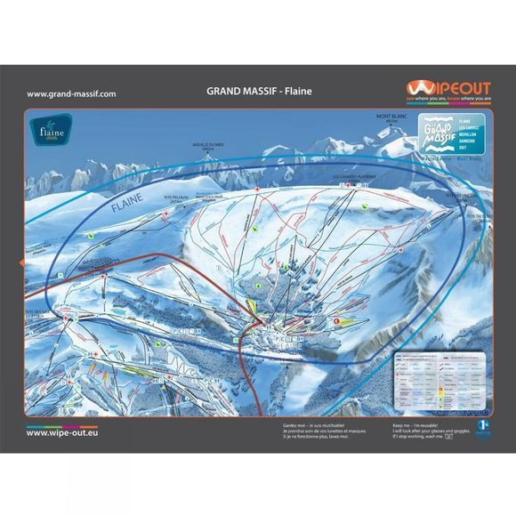 Wipeout Wipeout Grand Massif Piste Map Lens Cloth GRAND MASSIF