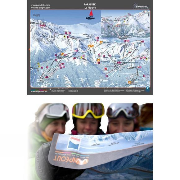 Wipeout Paradiski Piste Map Lens Cloth
