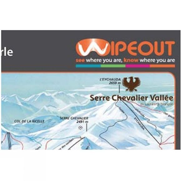 Wipeout Serre Chevalier Piste Map Lens Cloth