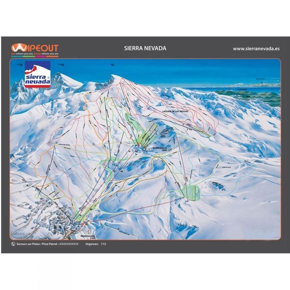 Wipeout Sierre Nevada Piste Map Lens Cloth