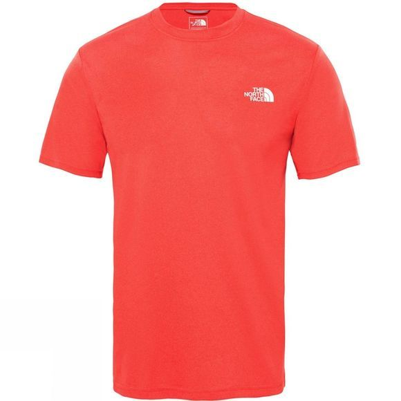 The North Face Men Reaxion Amp Crew T-Shirt TNF Red Heather