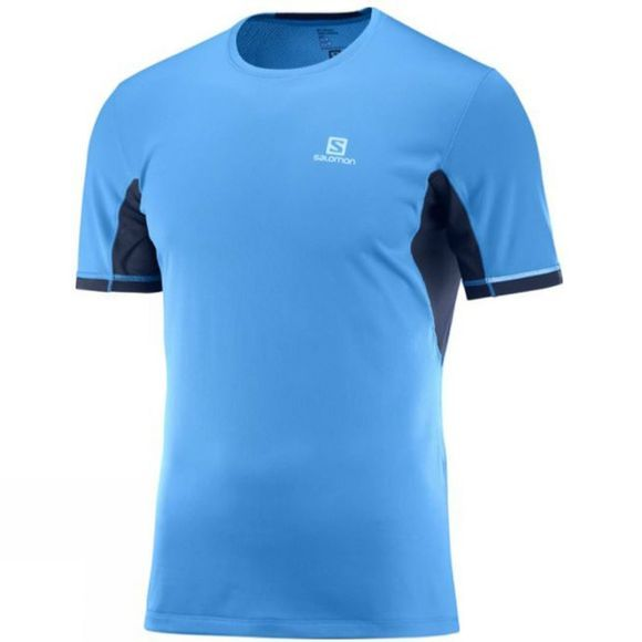 Salomon Mens Agile+ Short Sleeve T-Shirt Podeidon