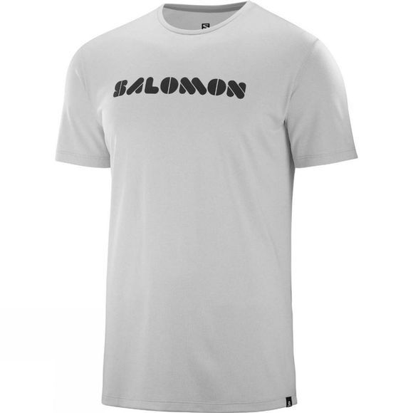 Salomon AGILE GRAPHIC TEE M Lunar Rock/White