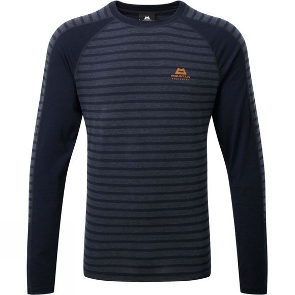 Mountain Equipment Men's Redline Long Sleeve Tee Cosmos stripe / Cosmos