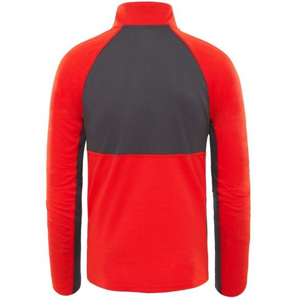 The North Face Mens Ambition 1/4 Zip Firey Red Heather