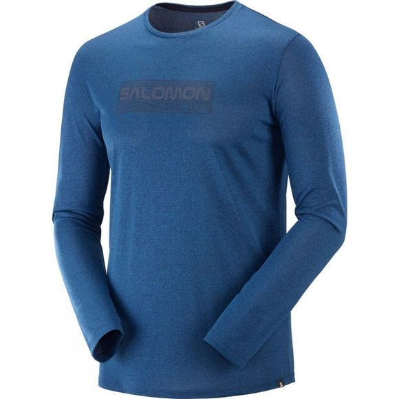 Salomon Agile Graphic LS Tee Night Sky/Poseidon