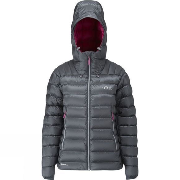 Rab Women's Electron 800 Down Jacket Graphene / Peony