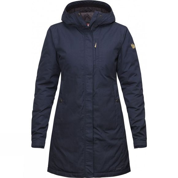 Fjallraven Womens Kiruna Padded Parka Dark Navy