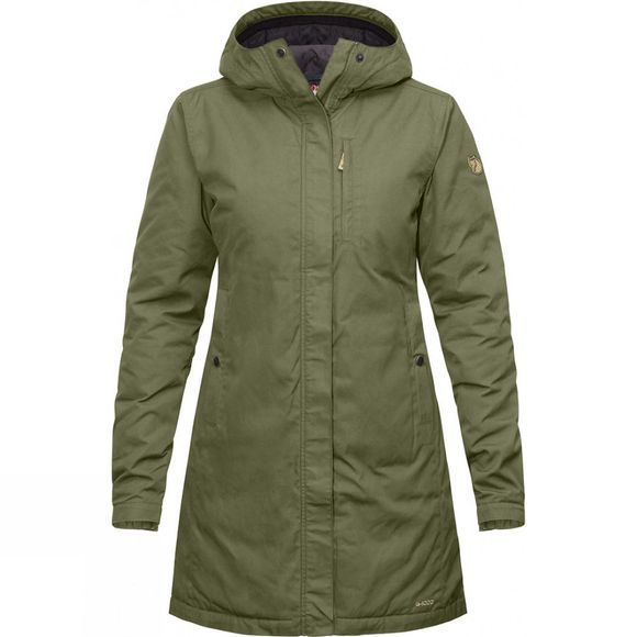 Fjallraven Womens Kiruna Padded Parka Green