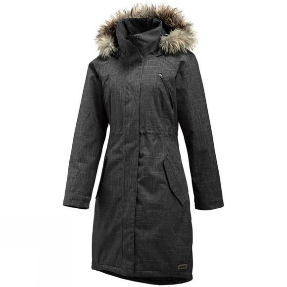 Merrell Women's Lohri Long Redux Faux Fur Coat Black