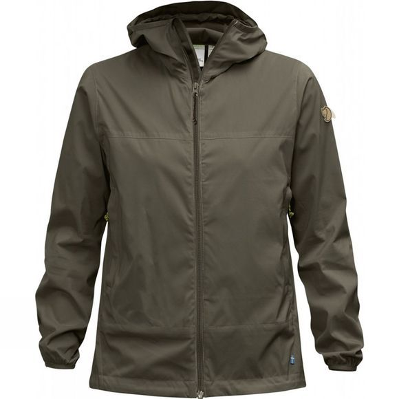 Fjallraven Womens Abisko Windbreaker Jacket Tarmac