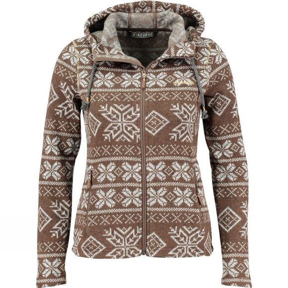 Ayacucho Women's Inverno Hoodie Brown/Gold