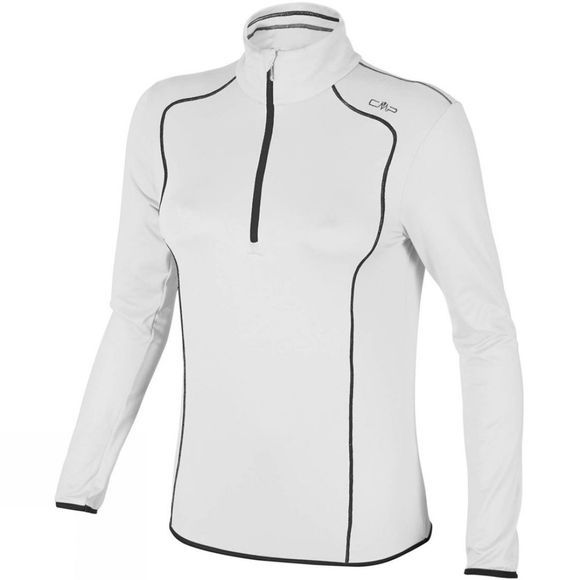 Campagnolo CMP Women's Stretch Contrast Fleece White/Black (Bianco-Nero)