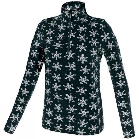 Campagnolo Women's Snowflake Stretch Top Nero