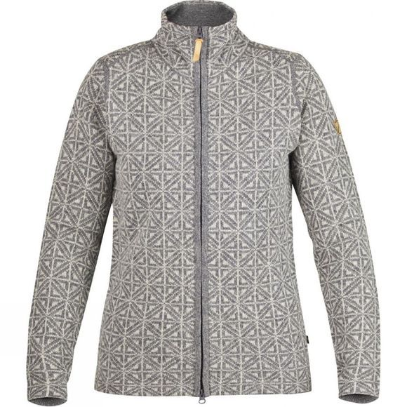 Fjallraven Women's Övik Frost Cardigan Dark Grey