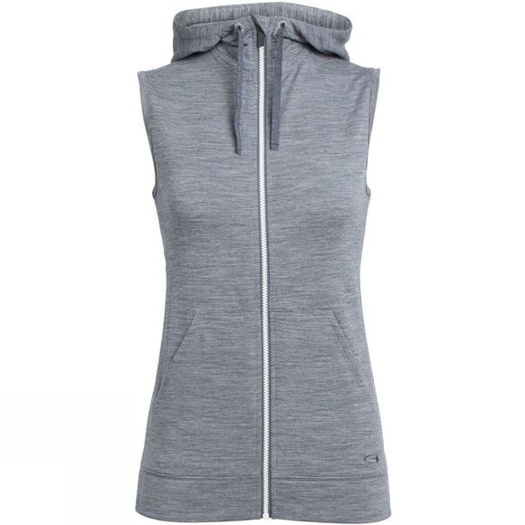Icebreaker Women's DIA Vest Gritstone Heather