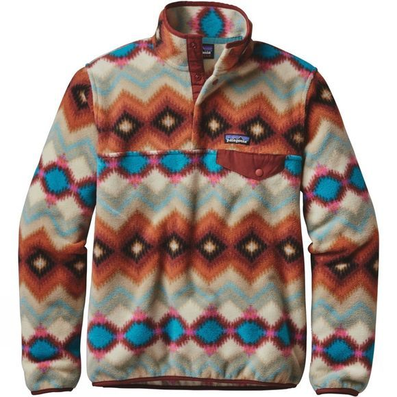 Patagonia Womens Lightweight Synchilla Snap-T Pullover Timber Twist: Cinder Red