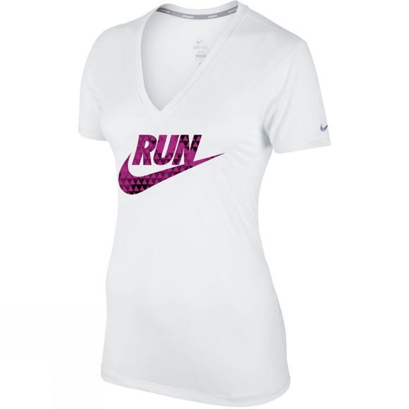 UK Women's Legend V Neck Short Sleeve Run Swoosh