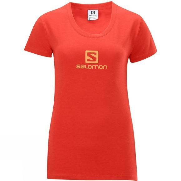 Salomon Women's Polylogo Tee Orange