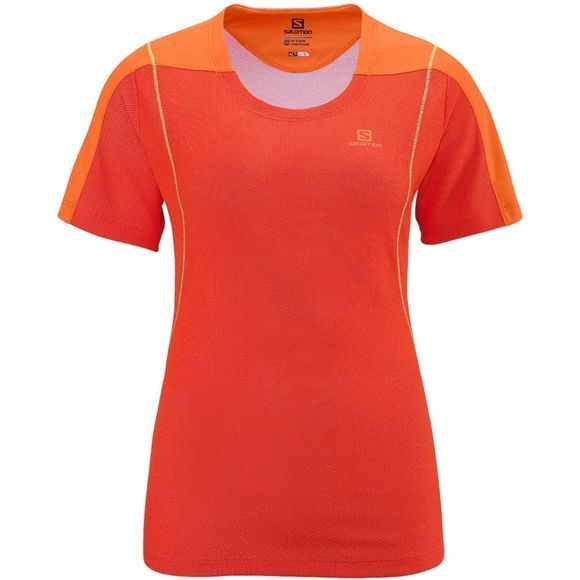 Salomon Women's Apogee Short Sleeve Tech Tee Orange