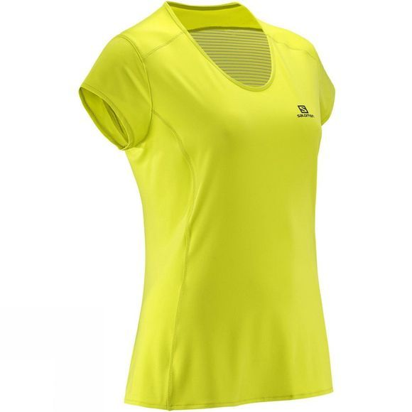 Salomon Women's Comet Plus Short Sleeve Tee Yuzu Yellow