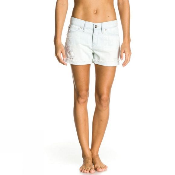 Women's Tomboy Bleach Denim Shorts
