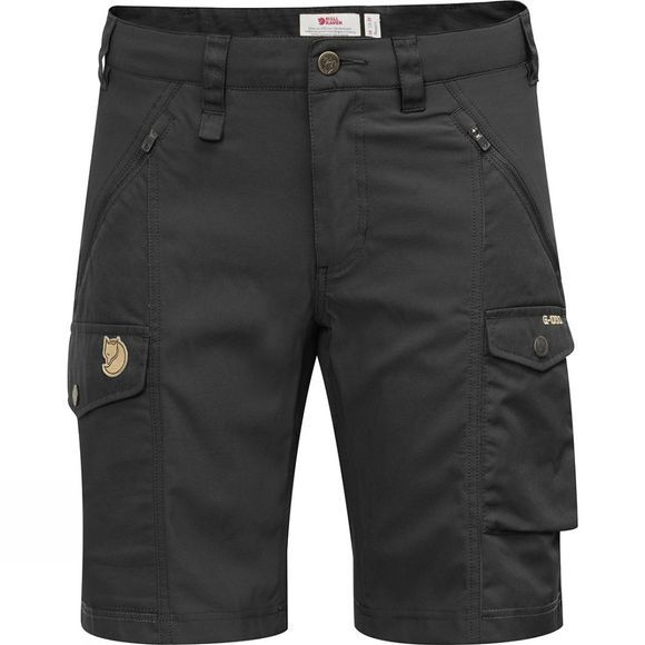 Fjallraven Womens Nikka Shorts Curved Black