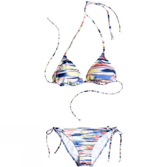 Women's Smooth Ikat Tiki Tri/Tie Side Scooter Bikini Set