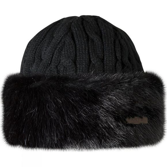 Barts Faux Fur Cable Bandhat Black