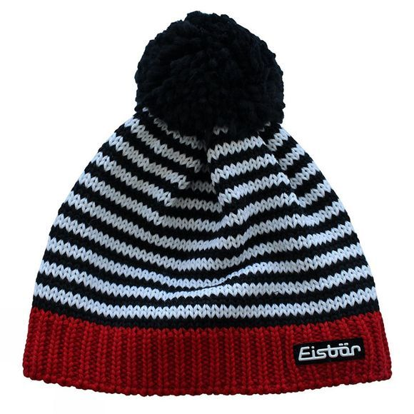 Eisbar CURLY POM POM HAT BLACK/WHITE/RED