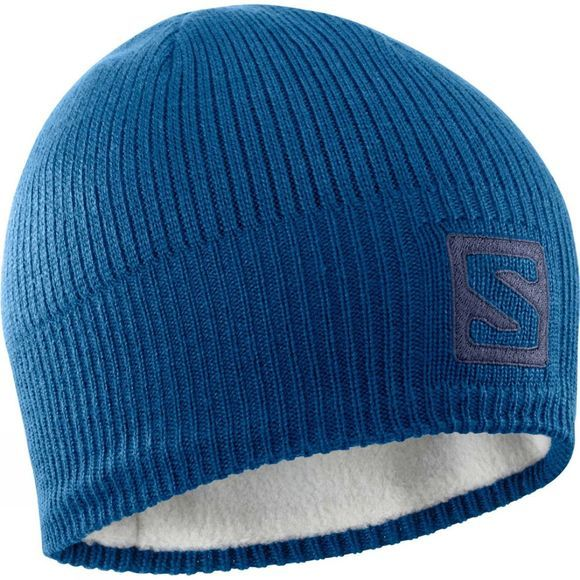 Salomon Logo Beanie Poseidon/Night Sky