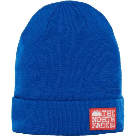 The North Face Dock Worker Beanie Bright Cobalt Blue/Centennial Red