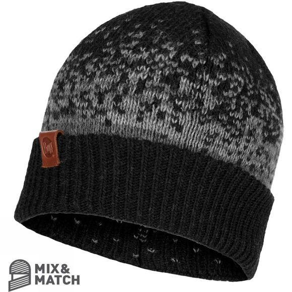 Buff Mens Valter Knitted Hat Graphite