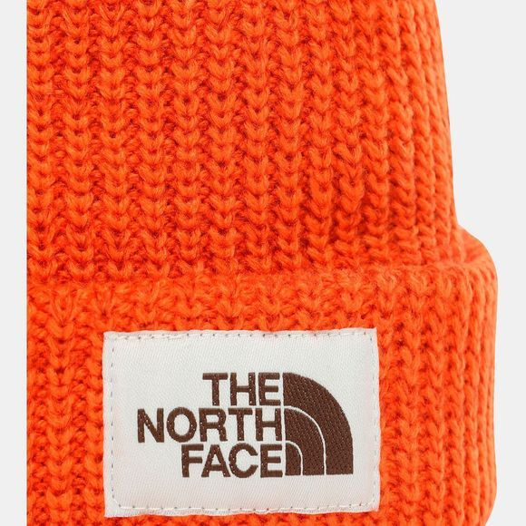 The North Face Mens Salty Dog Beanie Papaya Orange/Picante Red