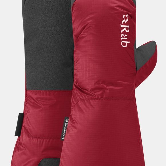 Rab Endurance Down Mitt Cherry