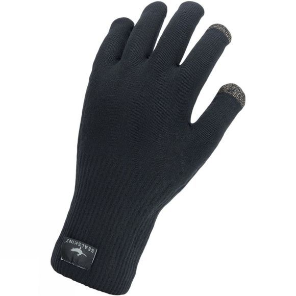 SealSkinz Mens Waterproof All Weather Ultra Grip Glove Black