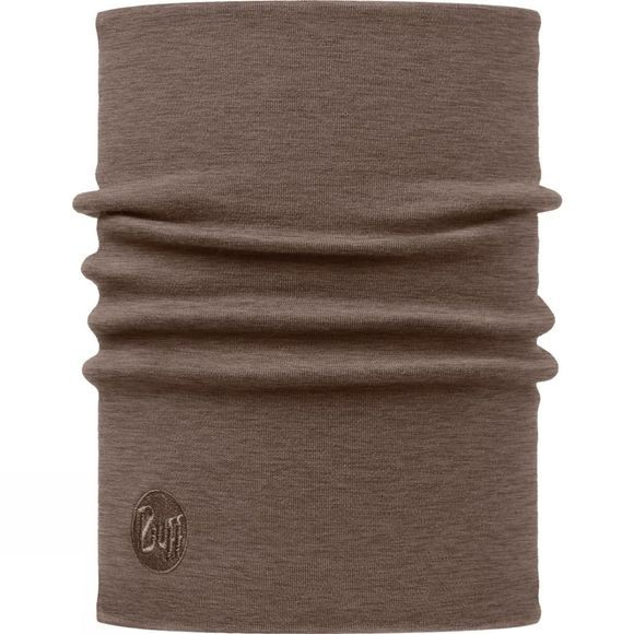 Buff Heavyweight Wool Neckwarmer Walnut Brown