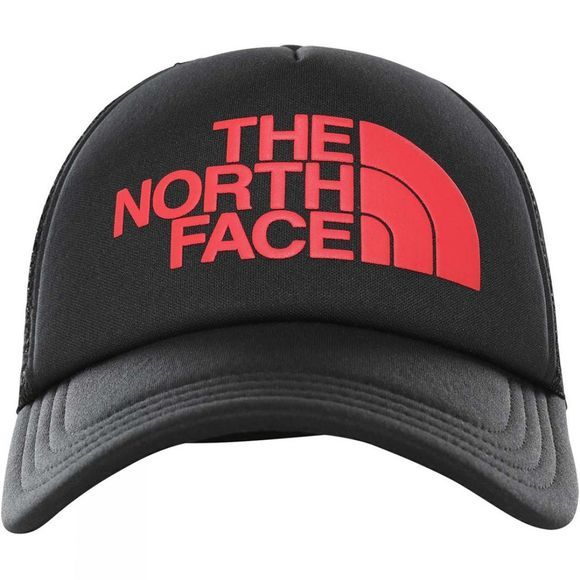 The North Face Mens TNF Logo Trucker Hat TNF Black/TNF Red