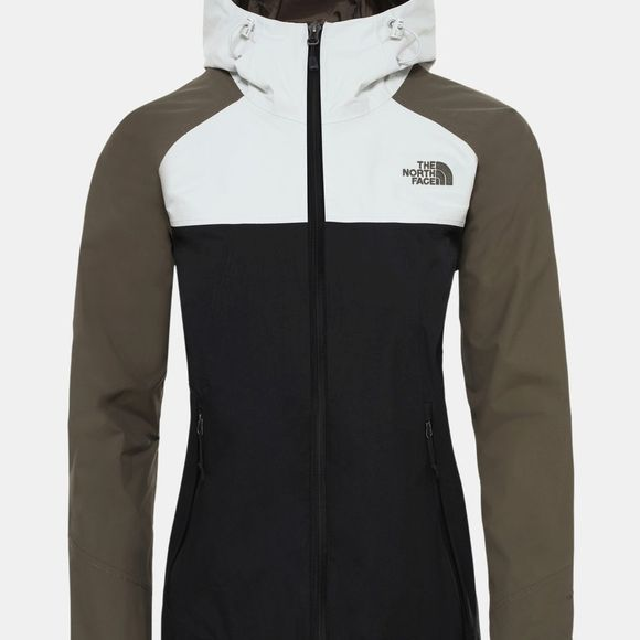 The North Face Women's Stratos Jacket Tnf Black/Taupe Green/Tin Grey