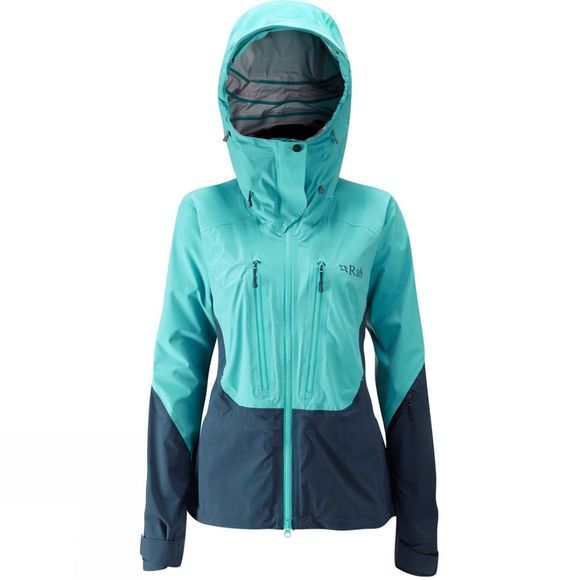 Rab Womens Sharp Edge Jacket Seaglass/ Deep Ink