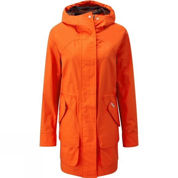 Hunter Womens Original Cotton Hunting Coat Orange