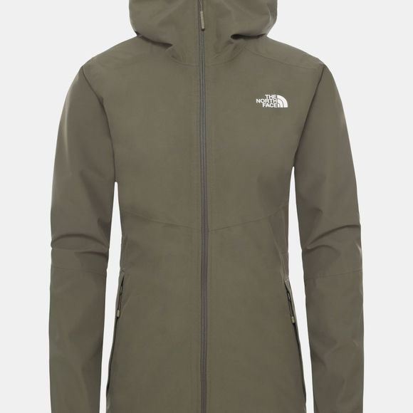 The North Face Womens Hikesteller Parka Shell Jacket New Taupe Green