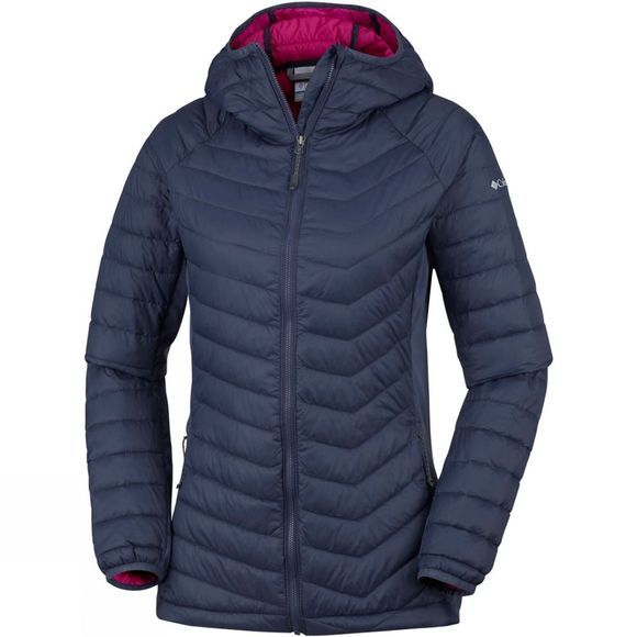 Columbia Womens Powder Pass Hooded Jacket Nocturnal